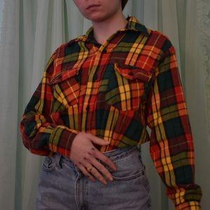 thick cotton 70s vintage flannel